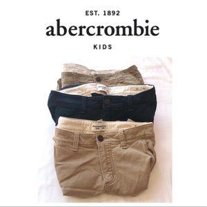 3 Pairs Size 15/16 Abercrombie Kids Shorts